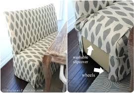 Armless Settee Dining Dining Settee Bohemian Chic And Cohesive In La Dining Nooksettee