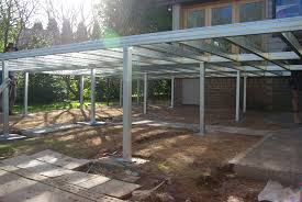 boxspan steel deck frame and ezi piers installed ready for decking