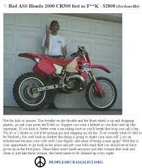 Funny Biker Memes - hilarious craigslist dirtbike ad people of craigslist