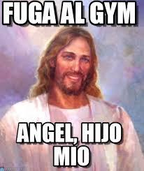 Memes De Gym En Espa Ol - fuga al gym smiling jesus meme en memegen