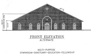 Chapel Floor Plans And Elevations Church Plan 107 112 Lth Steel Structures