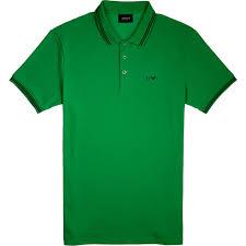light green polo shirt armani jeans armani polo shirt in light green for men