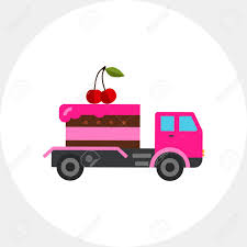 cake delivery cake delivery by truck icon royalty free cliparts vectors and
