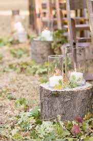 Wedding Aisle Ideas Rustic Tree Stump Aisle Decor Elizabeth Anne Designs The