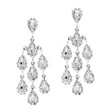 Bridal Chandelier Earrings Dramatic Crystal Rhinestone Chandelier Wholesale Earrings