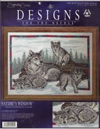 free designs for the needle wolf family cross stitch kit