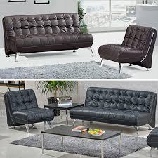 ensemble fauteuil canapé de bureau en cuir couleur noir et