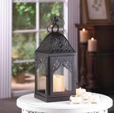 17 16 wholesale black metal filigree steeple hanging candle