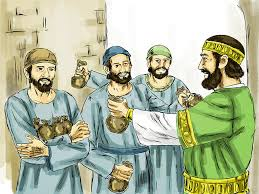 free bible images a parable about three servants left to invest