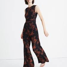 jumpsuit in madewell x no 6 silk jumpsuit in etched floral