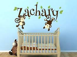 Monkey Decorations For Nursery Jungle Themed Nursery Fair Image Of Baby Nursery Room Decoration