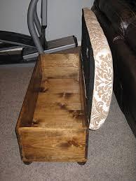 Wood Storage Ottoman Diy Ottomans Build And Upholster A Storage Ottoman Tda