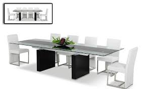Black Glass Extending Dining Table Dreamfurniture Com Lisbon Extendable Dining Table