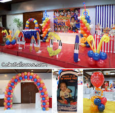 Balloon Decoration For Birthday At Home by Hi 5 Musical House Party Cebu Balloons And Party Supplies