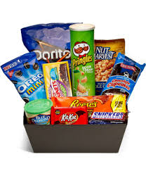 snack basket ultimate junk food basket at from you flowers
