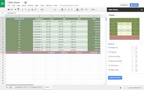 How To Create Google Doc Spreadsheet Table Styles Add On For Google Sheets