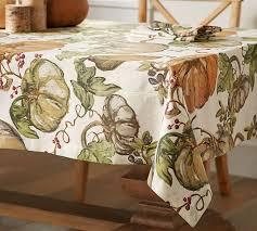 harvest pumpkin tablecloth pottery barn