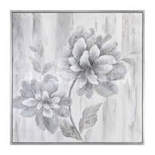 Uttermost Artwork Paintings U0026 Wall Art Silver Leaf Floral Painting Uttermost