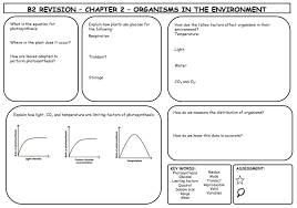 another great set of revision sheets on b2 teaching biology