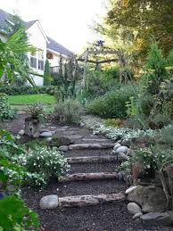 create garden steps from felled tree the pecks oregonlive com