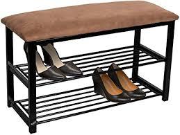 amazon com sorbus shoe rack bench u2013 shoes racks organizer