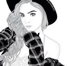 art black and white drawing fashion grunge outline