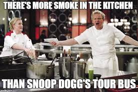 Chef Meme Generator - angry chef gordon ramsay there s more smoke in the kitchen than