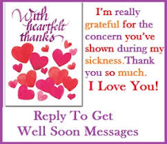 get well soon messages and wishes reply to get well soon messages