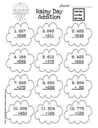 addition with and without regrouping free rainy day three digit addition with and without regrouping tpt