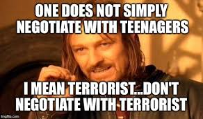 Memes About Teenagers - one does not simply meme imgflip