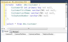 sql server create table primary key create table sql server sql server blog