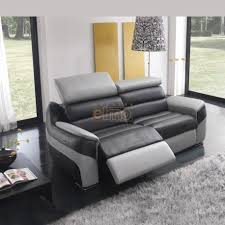canap de relaxation canapé relaxation contemporain en cuir bicolore têtières réglables