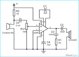 component lm386 audio amplifier circuit diagram simple intercom