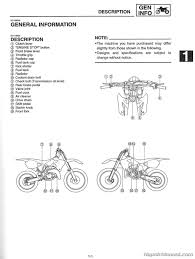 2001 yamaha yz125 owners service manual by repairmanual com ebay