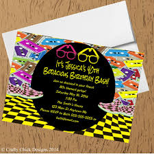 1980s bodacious birthday party invitations crafty designs