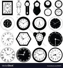 Wall Clock Wall Clock Royalty Free Vector Image Vectorstock