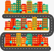 bureau urbanisme la construction de routes de la ville en matière de vecteur le