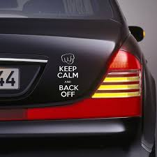 jdm sticker on car keep calm back off funny bumper sticker vinyl decal tailgate car