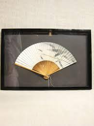 Oriental Wall Fan by Vintage Framed Asian Fan Hand Fan Wall Decor Shadow Box