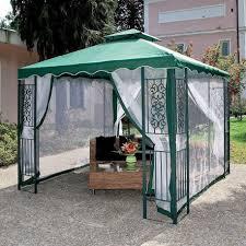 gazebo telo telo copertura di ricambio per gazebo mt 3x3 verde con airvent