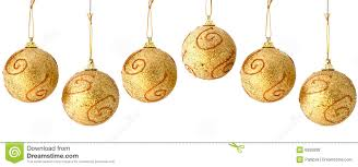 golden christmas balls seamless repeatable border royalty free