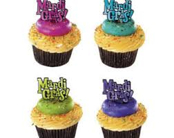 mardi gras cake decorations mardi gras cupcakes etsy