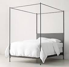 Upholstered Canopy Bed Black Iron Canopy Bed