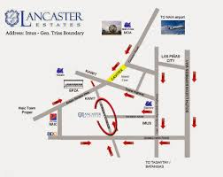 location map u0026 master plan buy a home in lancaster new city cavite