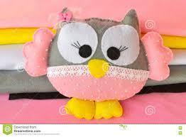 cute home decorations felt owl cute felt owl toy home decor stock photo image 81785871
