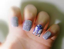 whip that nail art into shape r2 d2 star wars nails and nice