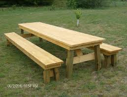Round Redwood Picnic Table by Table Cool Bowman Wood Picnic Table Set With Detached Benches