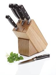 uk kitchen knives masterclass halo 5 carbon steel knife set and knife block