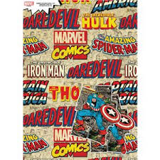 marvel wrapping paper wrapping paper tags