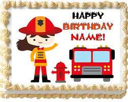 firefighter cupcake toppers firefighter cake etsy